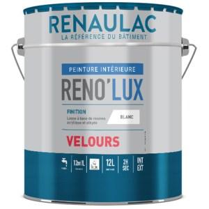 RENO'LUX VELOURS Peinture laque acrylique veloutée tendue haute résistance. Travaux de finition A. Tendu, opacité, arrondi de film.