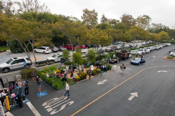 Long Beach knows how to celebrate Park(ing) Day, too.  Photo: LB Post