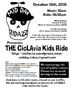 For more information on MidDay Ridazz, ##http://ciclavia.wordpress.com/2010/09/07/announcing-midday-ridazz/##click here.##