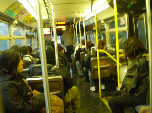 Inside the 704 on a very wet day in 2008.  Photo: LA Streetsblog/Flickr