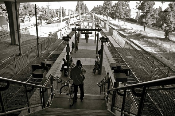 The Willowbrook Station, looking South. Sahra Sulaiman/LA Streetsblog