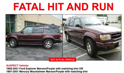 Gardena police distributed a flyer with an image of the kind of vehicle they believe killed Benjamin Torres on Oct. 10, 2012.