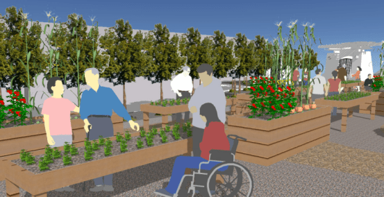 Rendering of the Children's Gateway Garden.