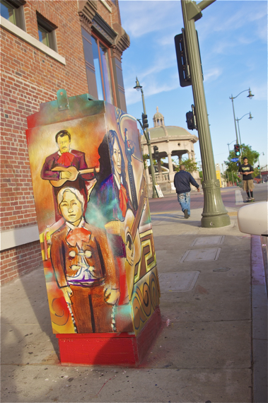Raul Gonzalez' piece is a tribute to members of his family who are musicians as well as the wider Mariachi community. Sahra Sulaiman/LA Streetsblog