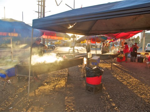 The vendors near Avalon have been at that site nearly every weekend for almost a dozen years. Sahra Sulaiman/Streetsblog L.A.