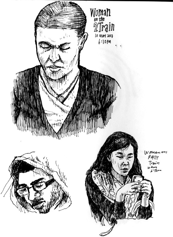 Lessons from NYC: Sketching on the Subway
