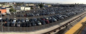 Metro's La Cienega Expo Line Station parking lot: 476 spaces, all free, all the time