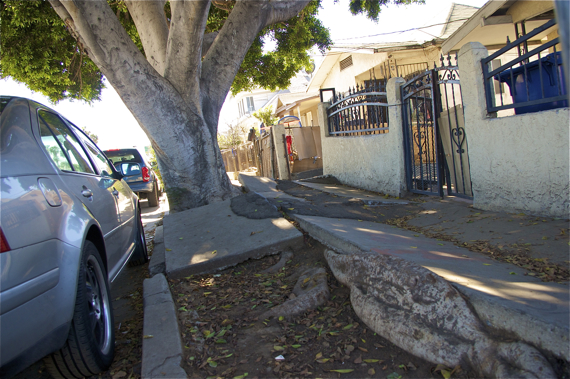 There are the abysmal sidewalks. Sahra Sulaiman/LA Streetsblog