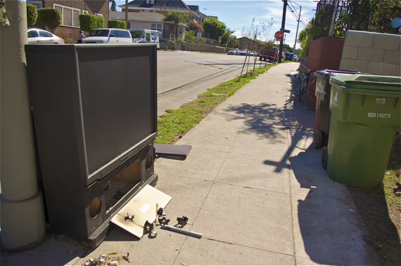 And yet more sidewalk dumping. Sahra Sulaiman/LA Streetsblog