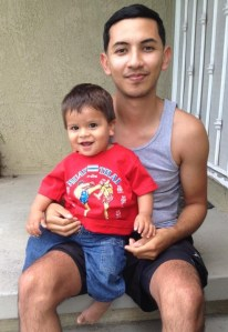 Carlos Hernandez and his nephew Alex