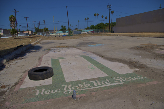 The lots just north of Manchester at Vermont -- one of which once hosted a swap meet -- have been a tremendous source of blight since the 1992 riots. Sahra Sulaiman/Streetsblog LA