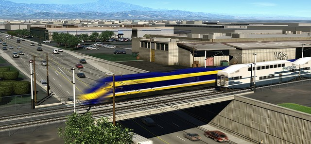 How should California's high speed rail interface with Los Angeles County? Give your input at an upcoming meeting or via email. Image via CAHSRA