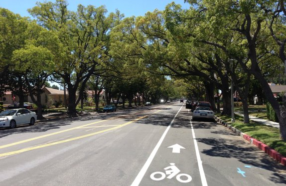 New bike lanes on Lakme Avenue in Wilmington.
