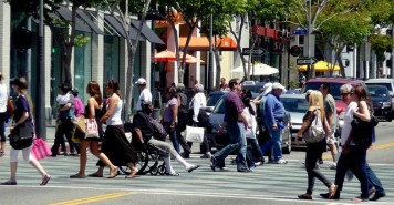 UCLA researchers found that new Multi-Modal Level of Service metrics are not so great for measuring what's helpful for people walking and bicycling. Photo via Flickr user pranavbhatt