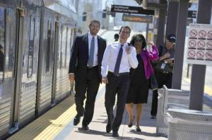 Eric Garcetti is a long-time believer in density built around transit. Photo:##http://endinggridlock.org/blog/congratulations-to-las-next-mayor-eric-garcetti##Angelenos Against Gridlock##