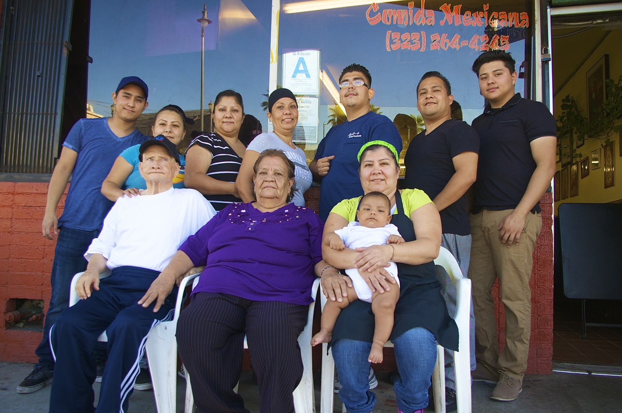 Most of the businesses along 1st are family-run. Yeya's has been there four years, although owner Lupita Barajas worked in restaurants along the street for 15 years prior to starting her own business. Sahra Sulaiman/Streetsblog LA