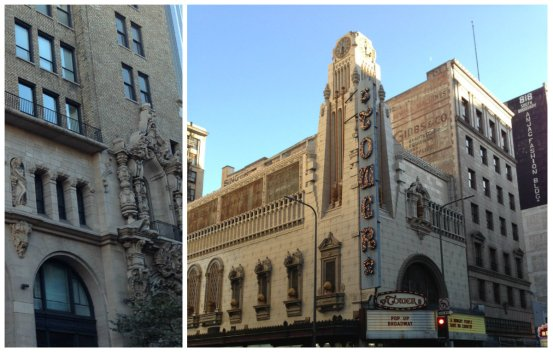 Two great Broadway theaters. Left, Million Dollar Theater, 307 S. Broadway. Right, Tower Theater, 802 S. Broadway