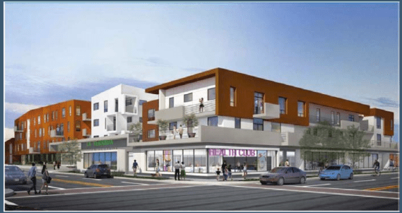 Rendering of the final product at Cesar Chavez and Soto. Source: Metro