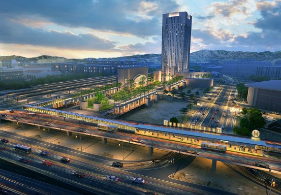Eyes on the Street: Rendering of new Union Station Silver Line BRT. Metro image via Builidng L.A.