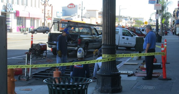 Parklet construction underway in Huntington Park
