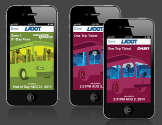 What LADOT's new LA Mobile App looks like. Image via GlobeSherpa