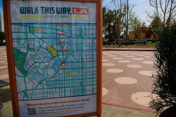 A walking map of the area courtesy of Los Angeles Walks. Sahra Sulaiman/Streetsblog L.A.