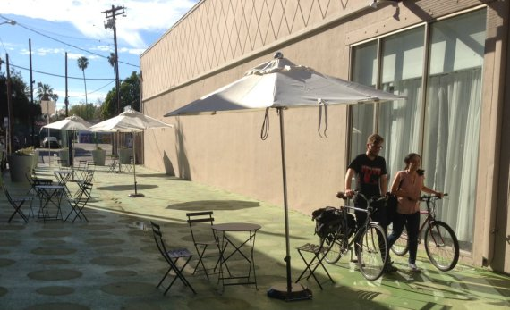 LADOT People St NoHo plaza is ready for its close-up at this Sunday's CicLAvia