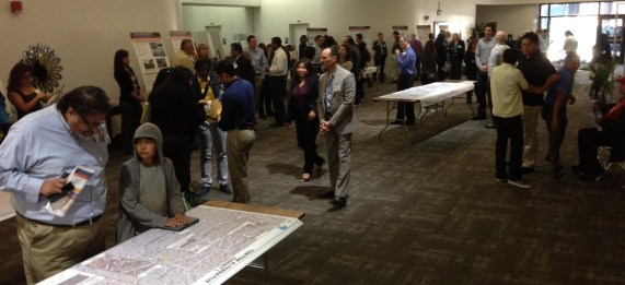Last Saturday's SR-710 study meeting at East L.A. College. 710 Freeway meetings continue tonight in Pasadena. Photo: Joe Linton/Streetsblog L.A.
