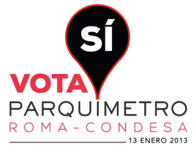 Mexico City social media campaign encouraging a yes vote on new parking meters. Image via Don Shoup