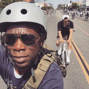 Bayne is also something of an Instagram King. Here's a selfie he took at CicLAvia in Pasadena last week. Photo: Tafari Bayne