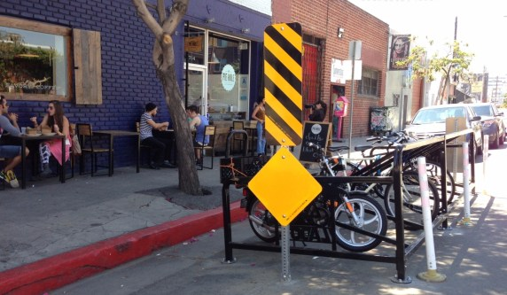 Another shot of Pie Hole's bike corral