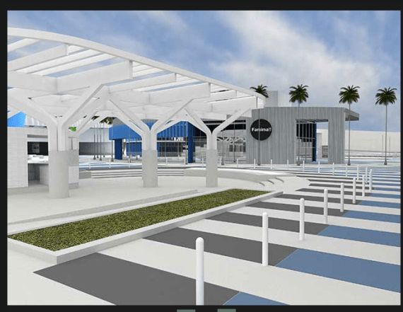 Rendering of what appears to be the reconfigured bus depot. (Source: JGM)