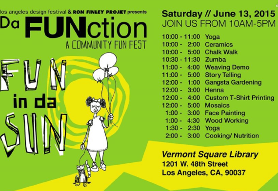 Da FUNction schedule. Click to enlarge.