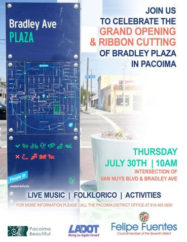 This Thursday is the grand opening for Bradley Plaza!