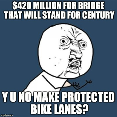 Really? $420 million and you can't find the funds for a protected bike lane?