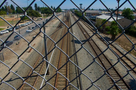 The Blue Line slices its way through South L.A. toward Long Beach. Sahra Sulaiman/Streetsblog L.A.