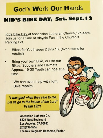 Kids Bike Day this Satuday!