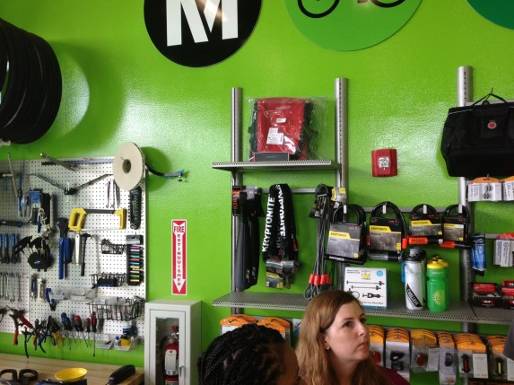 The hub features a mini-bike shop, with gear, repair equiment, etc. for purchase.
