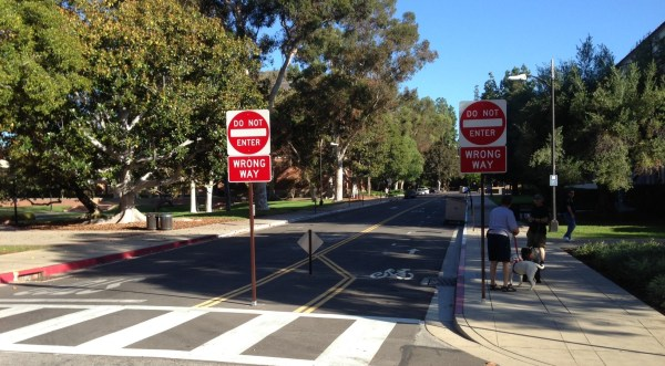 Drivers cannot go northbound on Dixon Court, but cyclists now can