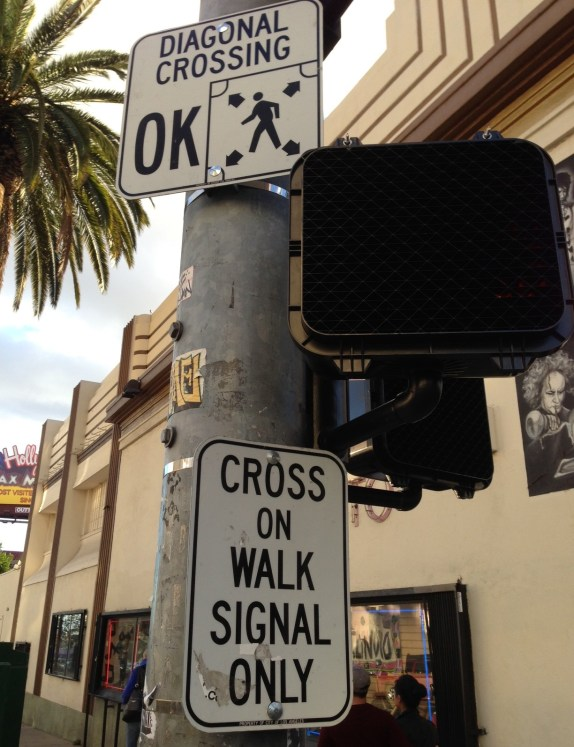 Streetsblog exclusive: what the L.A. pedestrian scramble signage looks like.