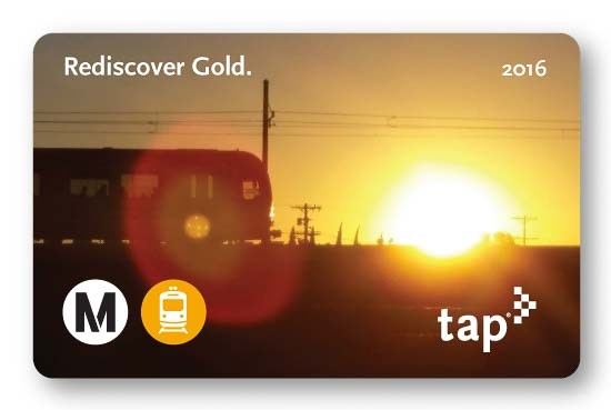 Get your commemorative Gold Line grand opening TAP card this Saturday. Image via Metro
