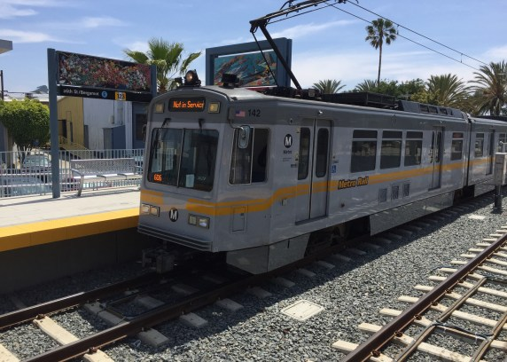 Metro opens the Metro Expo Line to Santa Monica today. Photo: Joe Linton/Streetsblog L.A.