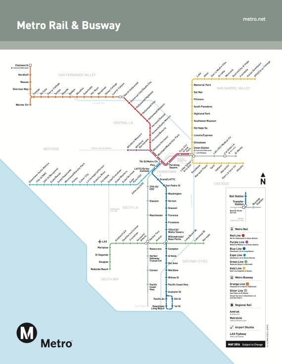 Metro's new rail system map in effect today