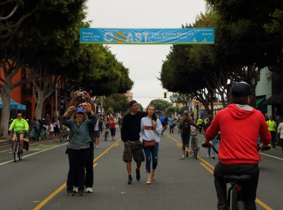 By 1 p.m., Main Street was full of people on bikes, on skateboards, and on foot.
