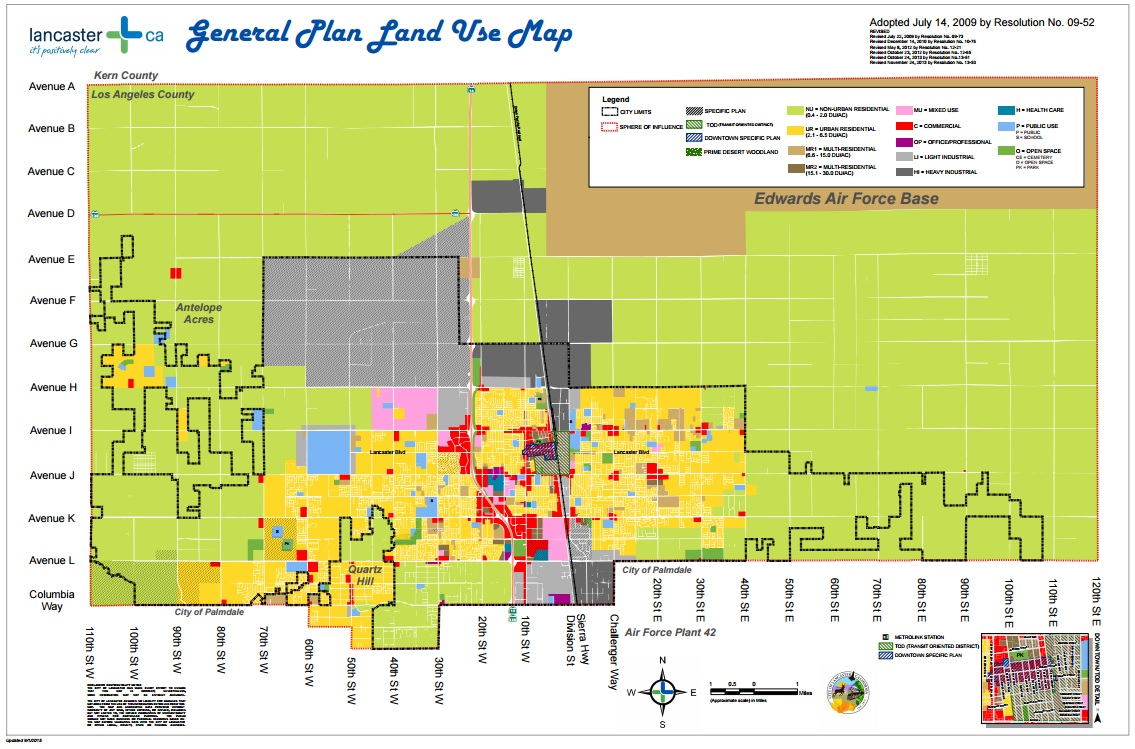 City Of Lancaster Eliminates Parking Minimums For Commercial Zones - Los angeles zoning map