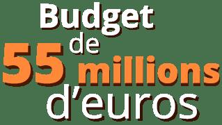 budget de 55 millions d'euros