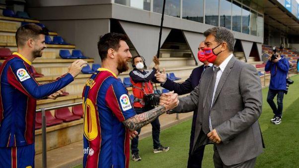 Messi and Laporta