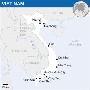 Mapa do Vietnã