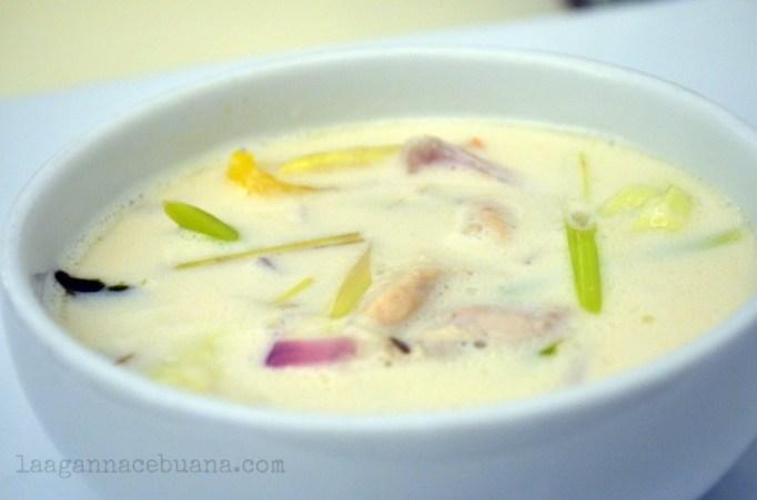 Siam Cuisine Thai Coconut milk soup with chicken (tom kha gai)
