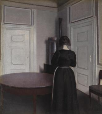Interior 1899 Vilhelm Hammershoi 1864-1916 Presented in memory of Leonard Borwick by his friends through the Art Fund 1926 http://www.tate.org.uk/art/work/N04106